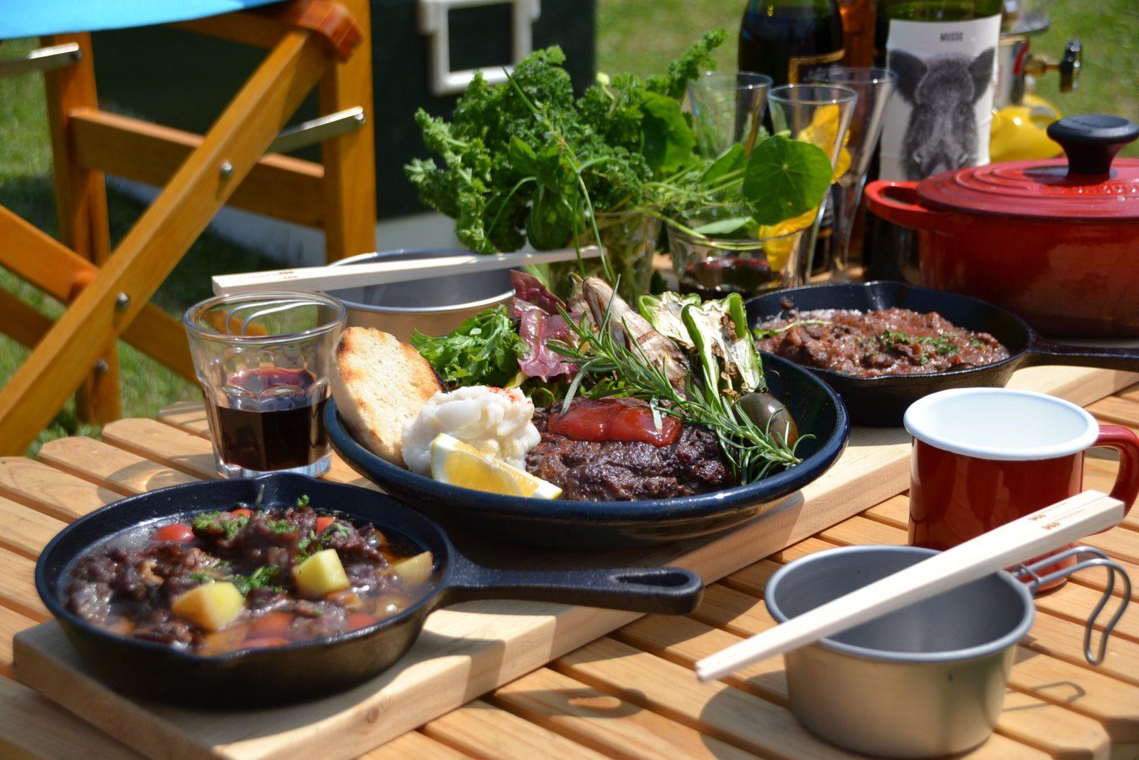 アウトドア キッチン スタジオ ロケ 料理 屋外 自然 景色 撮影