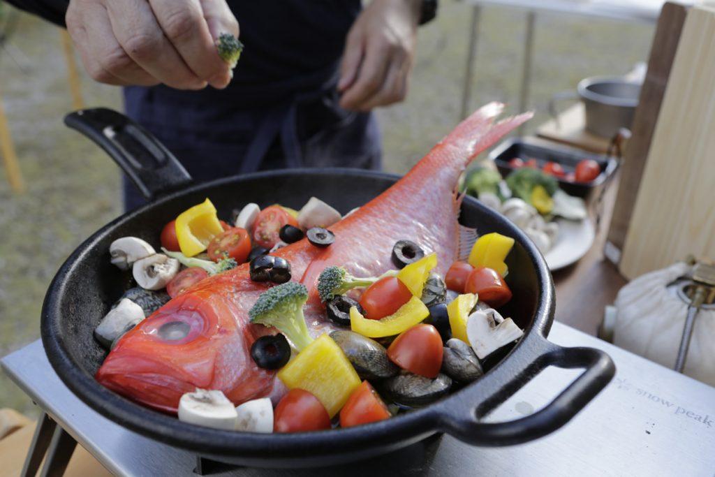 金目鯛 商品 撮影 ロケ 料理 調理 パンフレット